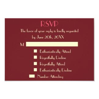 Invitación personalizada moderna divertida de RSVP