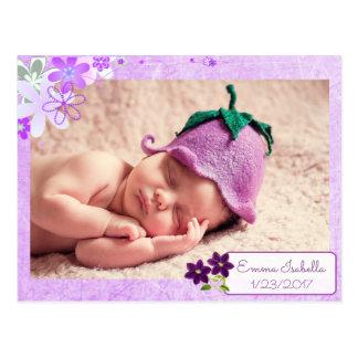 Invitación personalizada púrpura bonita del