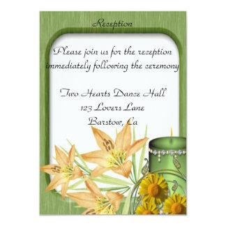 Invitación personalizada recepción nupcial floral