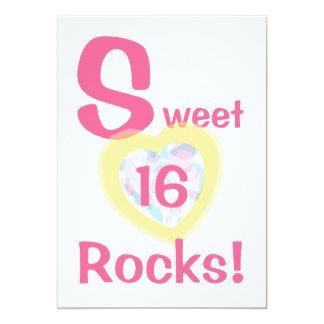 Invitación-Personalizar de las rocas del dulce Invitación 12,7 X 17,8 Cm