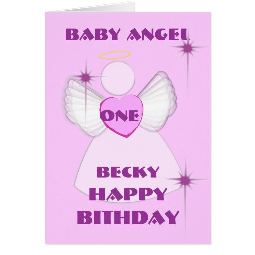Invitación-Personalizar del ángel #1Birthday Tarjeta
