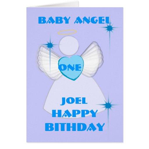 Invitación-Personalizar del ángel #1Birthday Felicitaciones
