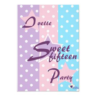 Invitación-Personalizar del dulce quince Invitación 12,7 X 17,8 Cm