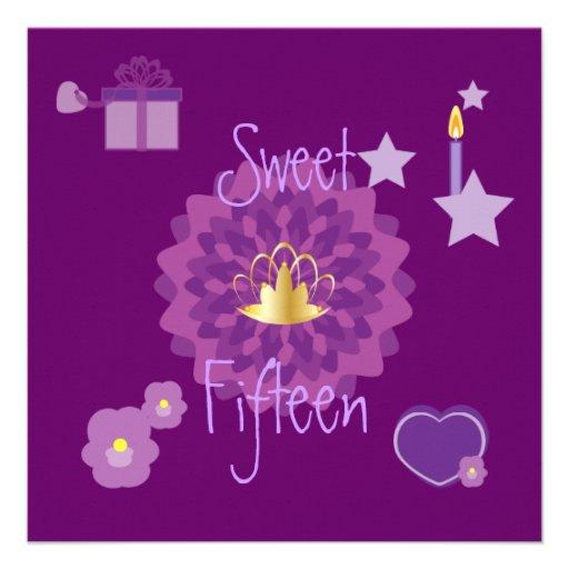 Invitación-Personalizar del dulce quince de la div