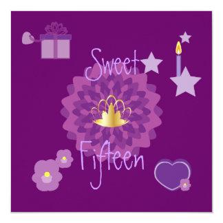 Invitación-Personalizar del dulce quince de la Invitación 13,3 Cm X 13,3cm