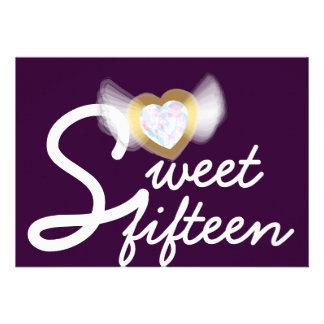 Invitación-Personalizar del dulce quince de la púr