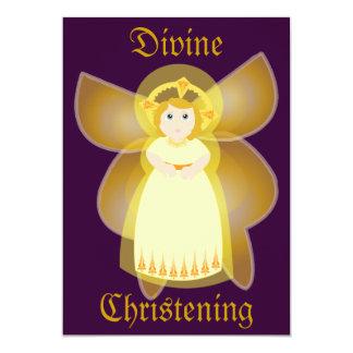 Invitación-Personalizar divino del bautizo Invitación 12,7 X 17,8 Cm