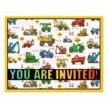 Invitación pesada del fiesta de los niños del tema