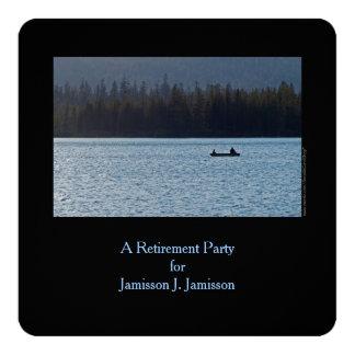 Invitación, pescador e hijo del fiesta de retiro invitación 13,3 cm x 13,3cm