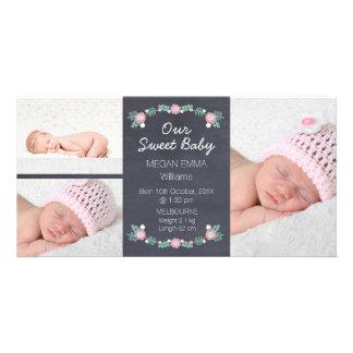 Invitación Photocard del nacimiento de la foto de Tarjeta Personal Con Foto