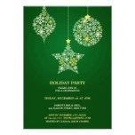 Invitación plana verde de la celebración de días f