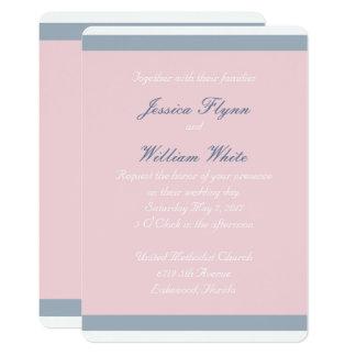 Invitación polvorienta del boda de la raya azul