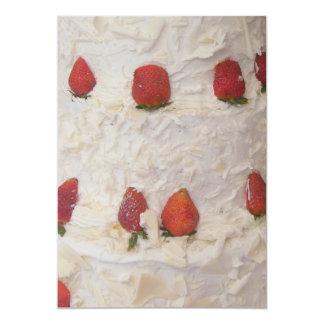 Invitación poner crema de las fresas invitación 12,7 x 17,8 cm