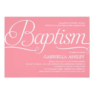 Invitación preciosa del bautismo de la escritura -