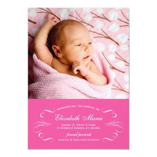 Invitación preciosa del nacimiento de la elegancia