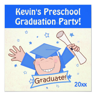 Invitación preescolar del fiesta del graduado de