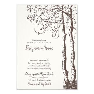 Invitación profunda del boda judío de las raíces