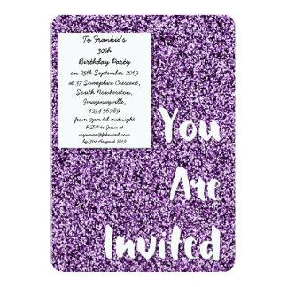 Invitación púrpura Amethyst del fiesta del brillo