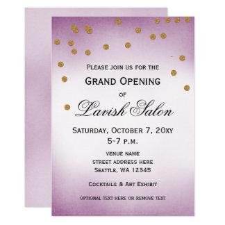 Invitación púrpura bonita del fiesta de la gran