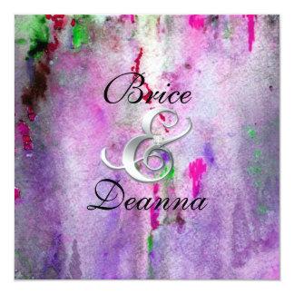 Invitación púrpura de la bodas de plata de la