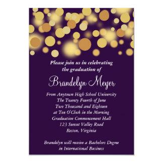 Invitación púrpura de la graduación de la invitación 12,7 x 17,8 cm
