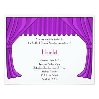 Invitación púrpura del drama y del teatro