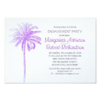 invitación púrpura del fiesta de compromiso de la