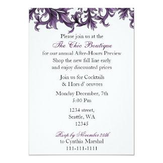Invitación púrpura elegante del fiesta del negocio