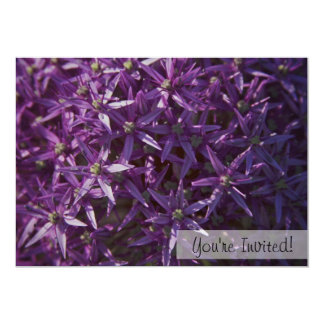 Invitación púrpura floral del personalizado de la invitación 12,7 x 17,8 cm