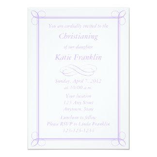Invitación purpúrea clara de encargo - diseño de