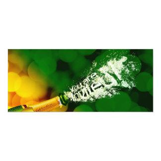 Invitación que hace estallar del corcho de Champán Invitación 10,1 X 23,5 Cm