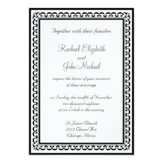 Invitación que se casa 2 blancos y negros