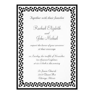 Invitación que se casa 3 blancos y negros
