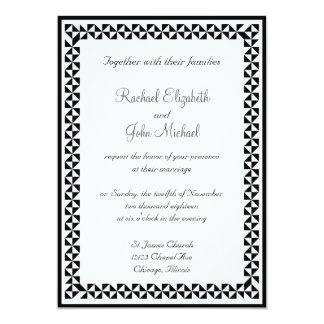 Invitación que se casa 3 blancos y negros invitación 12,7 x 17,8 cm