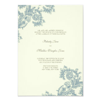 Invitación que se casa del azul el | del cordón el invitación 12,7 x 17,8 cm