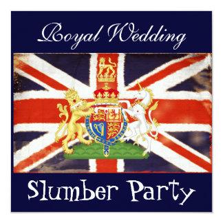 Invitación real de la fiesta de pijamas del boda