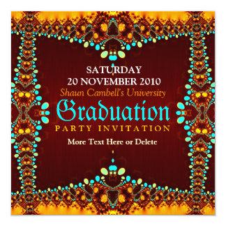 Invitación real de la graduación del fractal