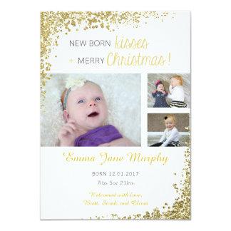 Invitación recién nacida del bebé de los besos