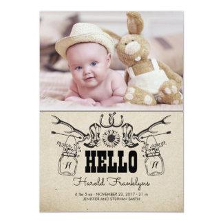 Invitación recién nacida del nacimiento de la foto