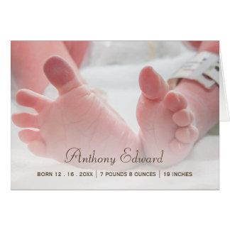 Invitación recién nacida del nacimiento de los tarjeta pequeña
