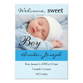 invitación recién nacida del nacimiento del bebé