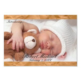invitación recién nacida rústica del muchacho de