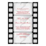 Invitación rectangular grande del cine