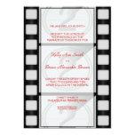 Invitación rectangular grande del cine invitación 12,7 x 17,8 cm