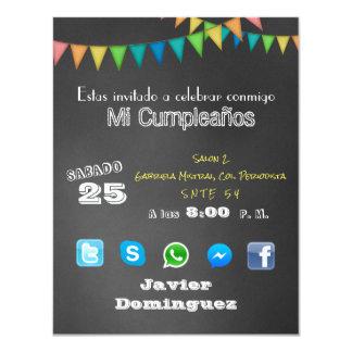 Invitacion Redes Sociales Invitación 10,8 X 13,9 Cm