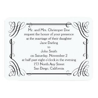 Invitación redondeada del boda de Matt del borde