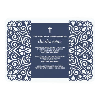 Invitación religiosa agradable del azul de alcohol