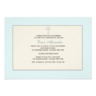 Invitación religiosa azul