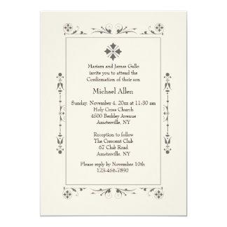 Invitación religiosa clásica