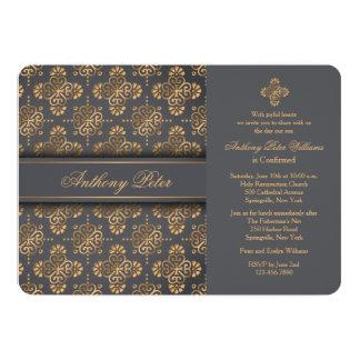Invitación religiosa cruzada de oro